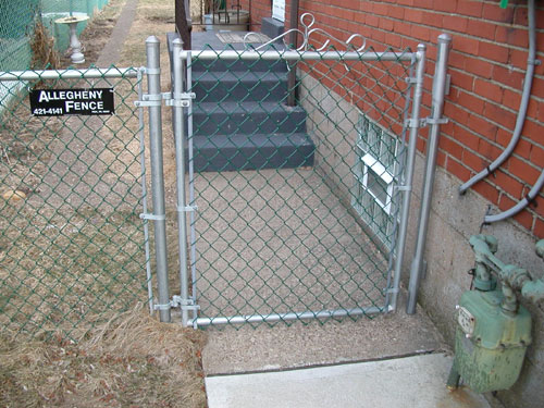 Metal chain fence gate Adjustable Single Chain Link Gate Allegheny Fence Allegheny Fence Gates
