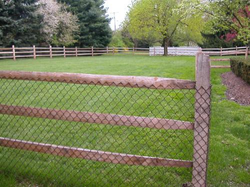 split rail wood fence gate. Locust Hemlock Split Rail With Chain Link Fabric Wood Fence Gate