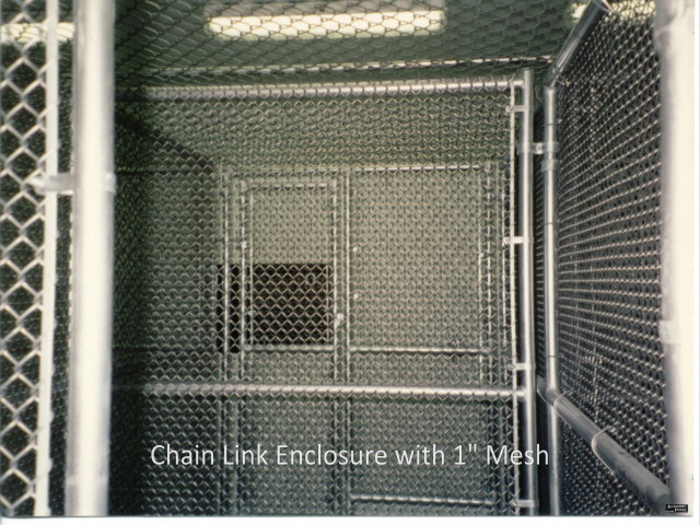 1 inch Mesh Chain Link Enclosure