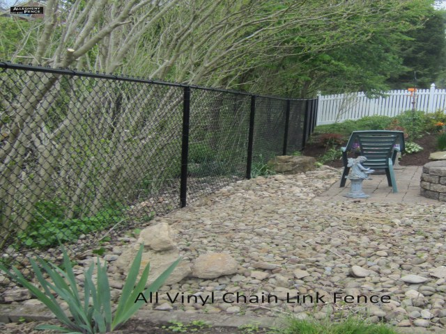 All Black Vinyl Fence 1