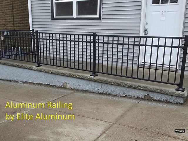 Pittsburgh industrial railings and columns, Allegheny Fence