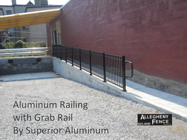 Aluminum Railing with Grab Rail by Superior Aluminum