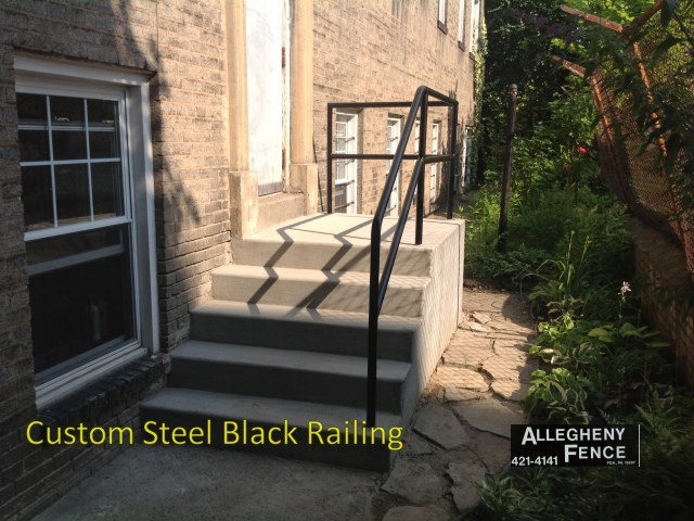 Custom Steel Black Railing