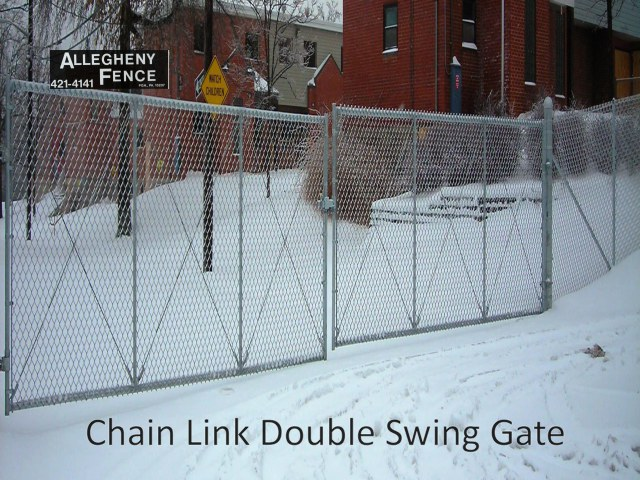 Chain Link Double Swing Gate 1