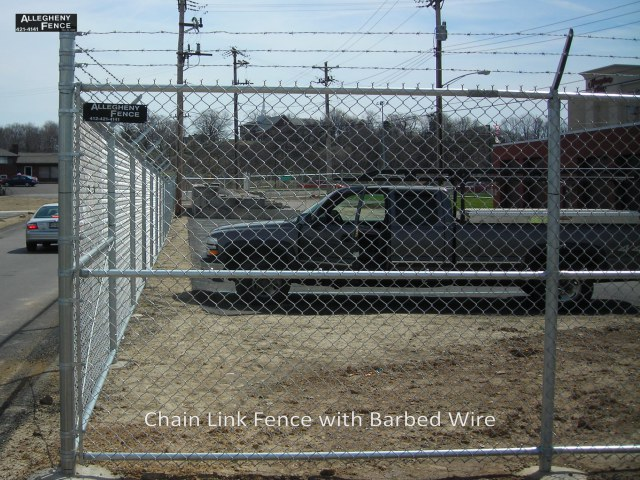 Chain Link Fence Barbed Wire 2