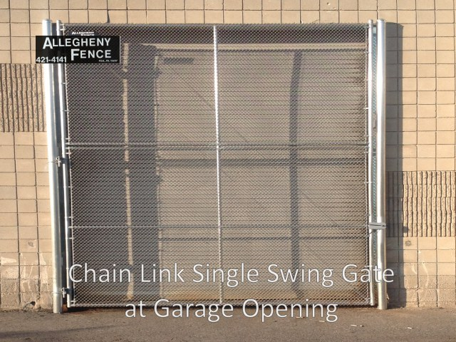 Chain Link Single Swing Gate for Garage Opening