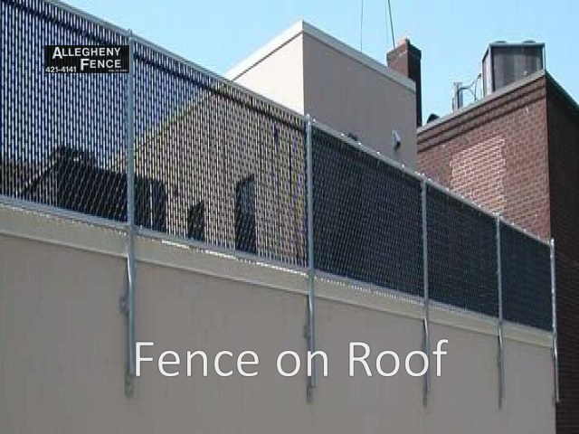 Fence Bolted to Wall & Slats
