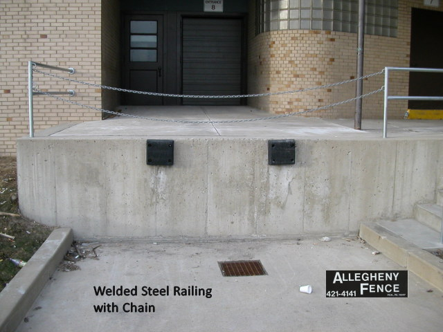 Welded Steel Railing with Chain