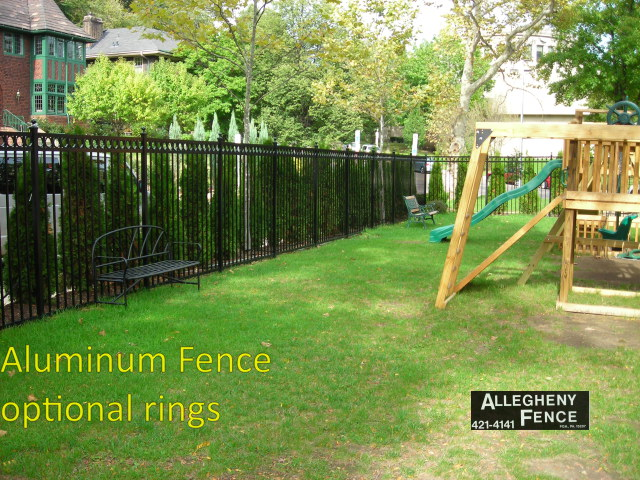 Aluminum Fence Optional Rings