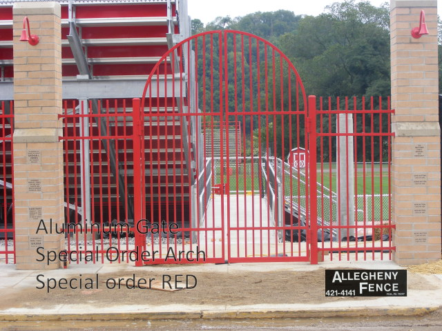 Aluminum Gate Special Order Arch Special Order Red