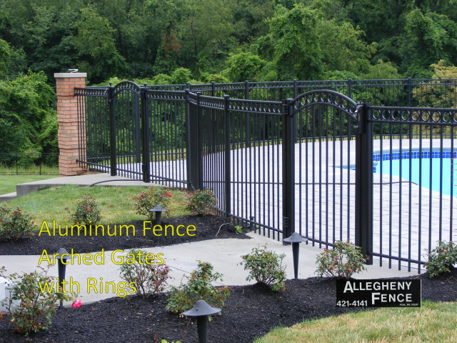 Aluminum Fence Arched Gates with Rings