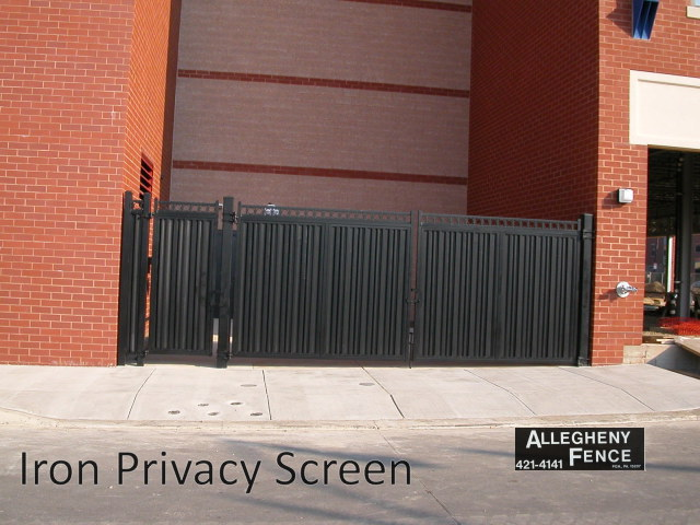 Iron Privacy Screen
