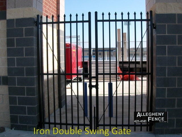 Iron Double Swing Gate