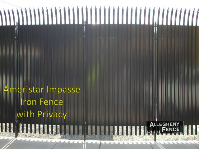 Ameristar Impasse Iron Fence with Privacy