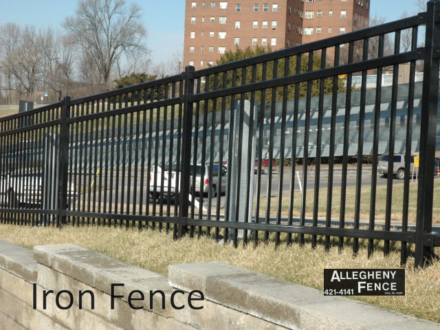 Pittsburgh industrial ornamental iron fencing, Allegheny Fence