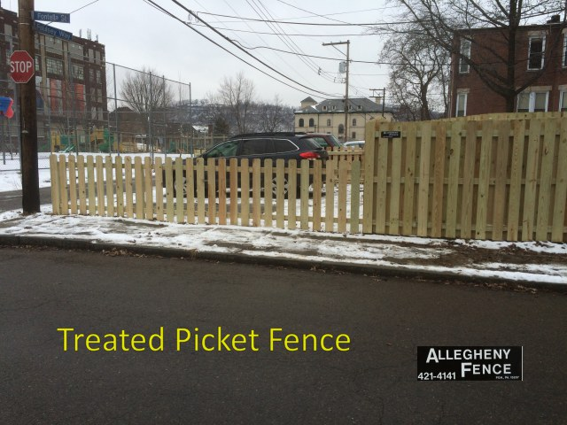 Treated Picket Fence