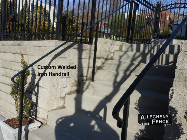 Custom Welded Iron Handrail