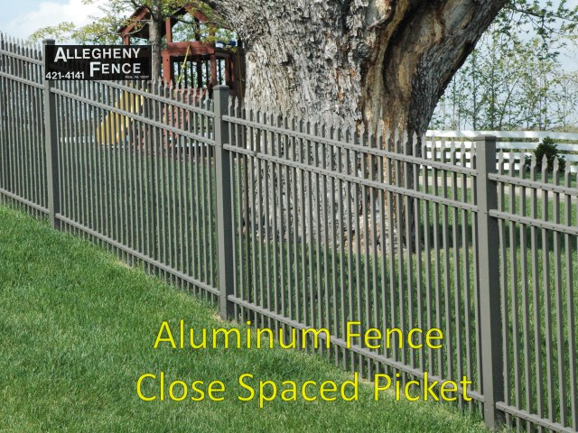 Aluminum Fence Close Spaced Picket