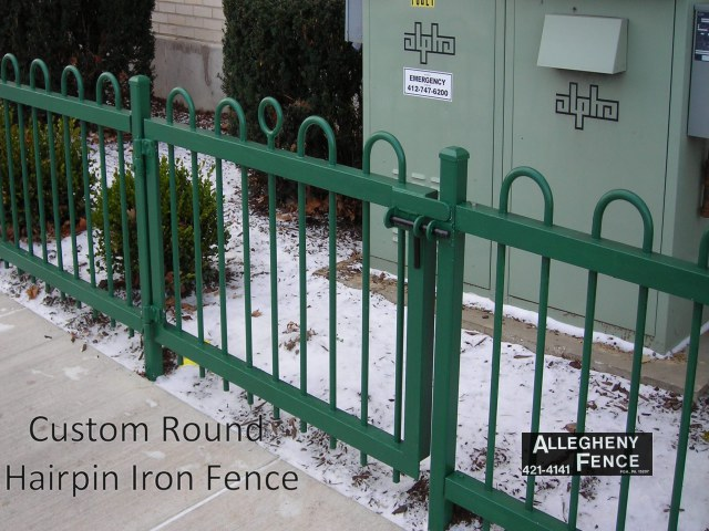 Custom Round Hairpin Iron Fence