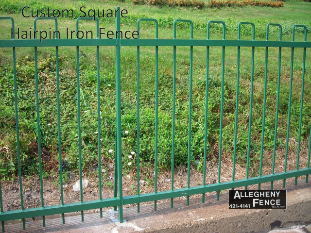 Custom Square Hairpin Iron Fence