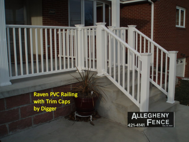 Raven PVC Railing with Trim Caps by Digger