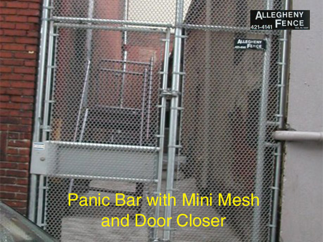 Pittsburgh Gate With Panic Bar Allegheny Fence