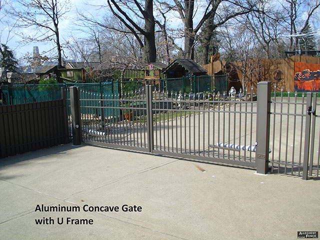 Aluminum Concave Gate with U Frame