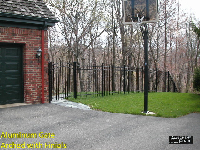Aluminum Gate Arched with Finials