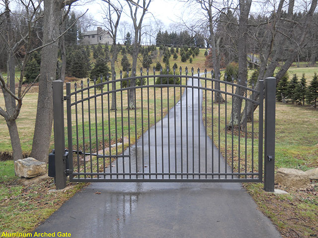 Aluminum Arched Gate