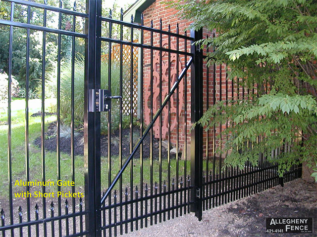 Aluminum Gate Arched with Short Pickets