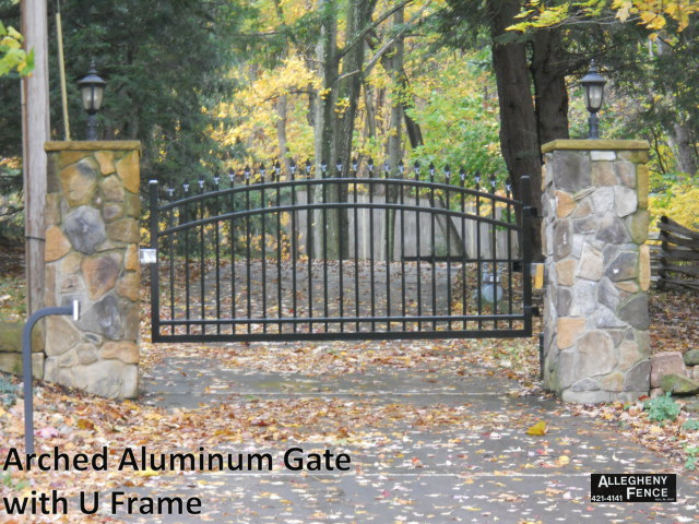 Arched Aluminum Gate with U Frame