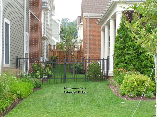Aluminum Gate Extended Pickets