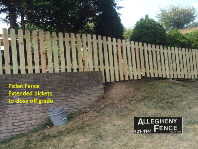 Picket Fence Extended Pickets to Close off Grade