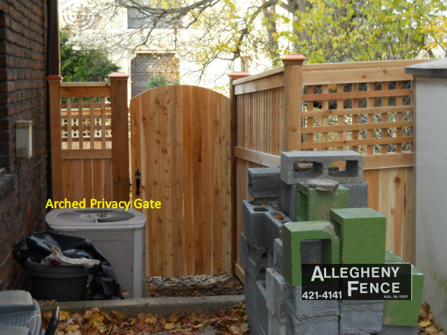 Arched Privacy Gate
