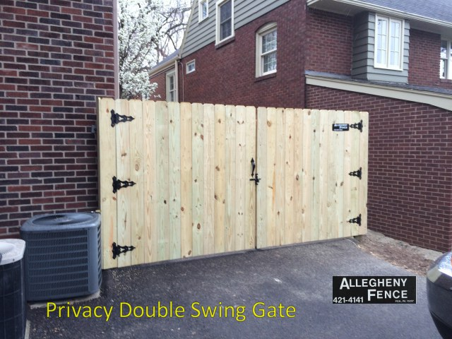 Privacy Double Swing Gate
