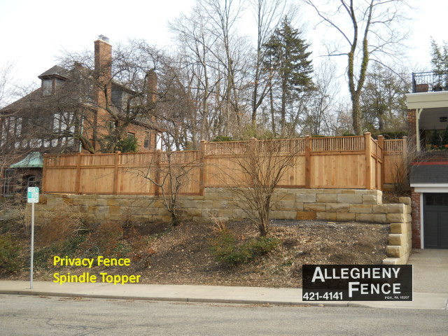 Privacy Fence Spindle Topper