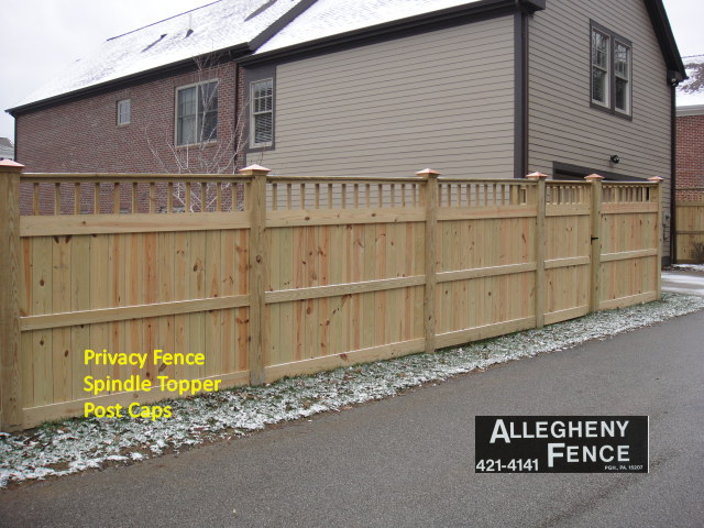 Privacy Fence Spindle Topper Post Caps