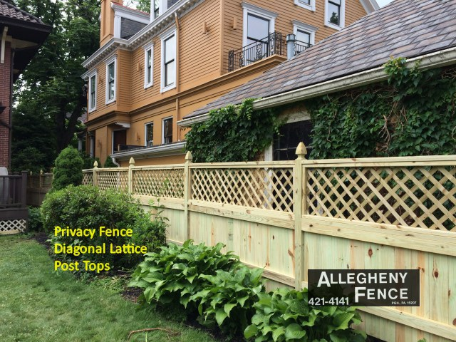 Privacy Fence Diagonal Lattice Post Tops