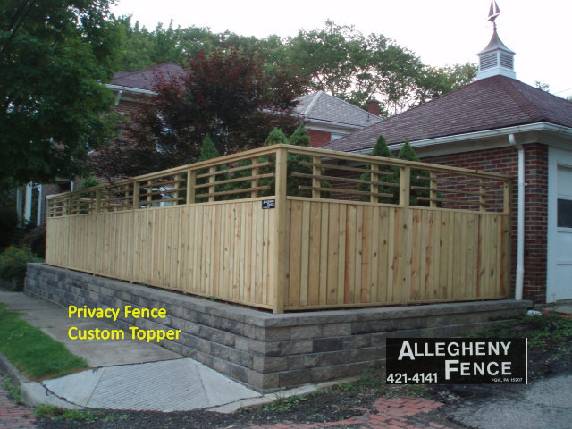 Privacy Fence Custom Topper
