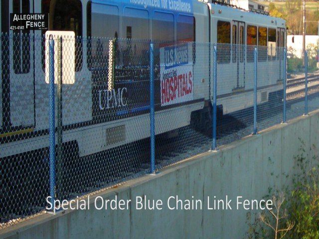 Special Order Blue Chain Link Fence